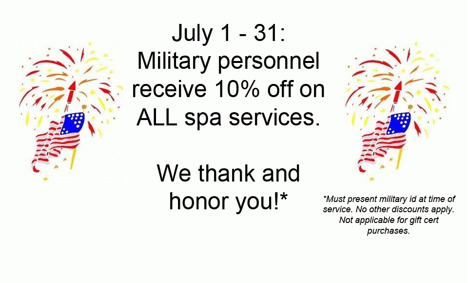 July is Military Appreciation Month